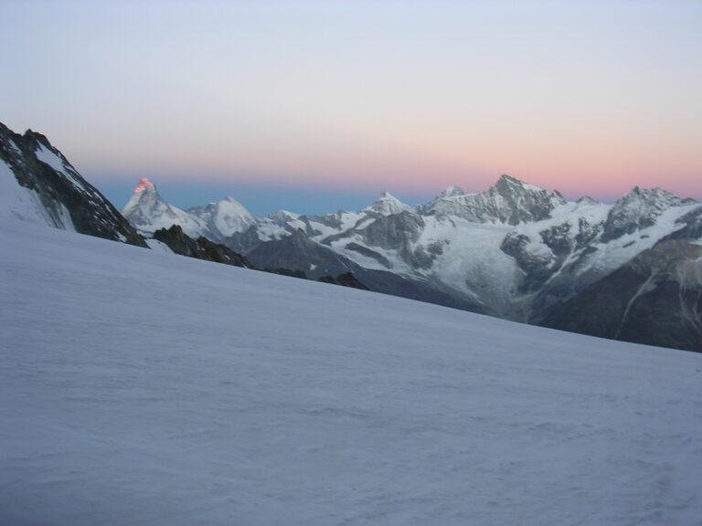 Matterhornblick-Sonnenaufgang