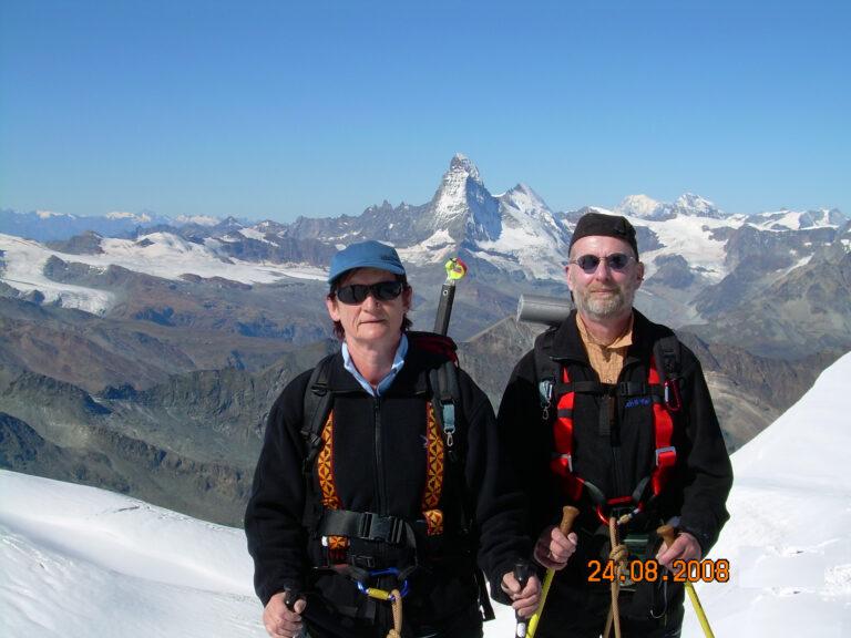 Allalinjoch vor Matterhorn