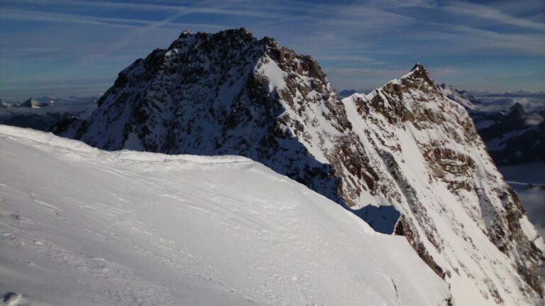 Gipfel vor Dufour und Nordend